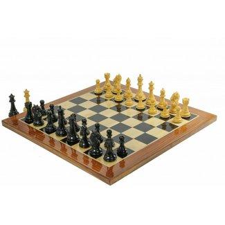 Ubergames Staunton Koning's Bruid Ebbenhout Schaakset, met prachtig schaakbord