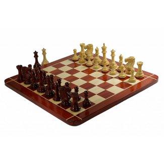 Ubergames Heren Club schaakspel, Triple Weight, Koningshoogte 12,7 cm, totaal 9 kg!