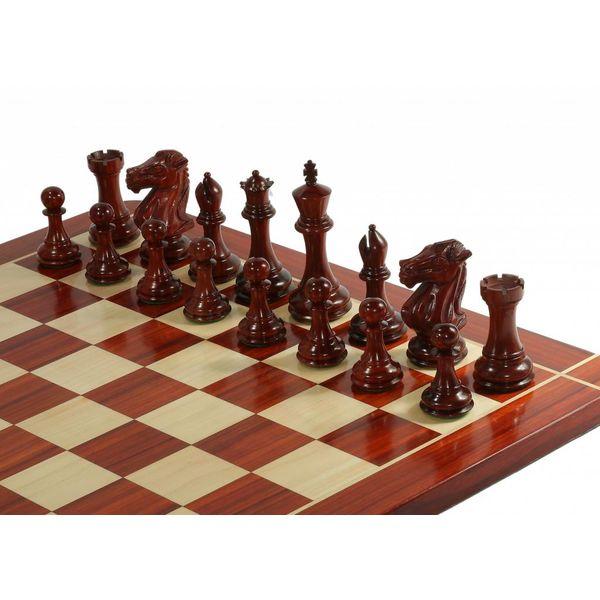 Ubergames Heren Club schaakspel, Triple Weight, bord met stukken, Koningshogte 12,7 cm, totaal 9 kg!