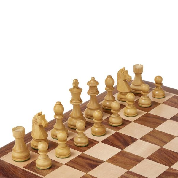 Ubergames Klassieke Staunton set - Bord, figuren en teak-box