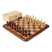 Ubergames Exclusieve Staunton schaakset - Bord, stukken en teak-box