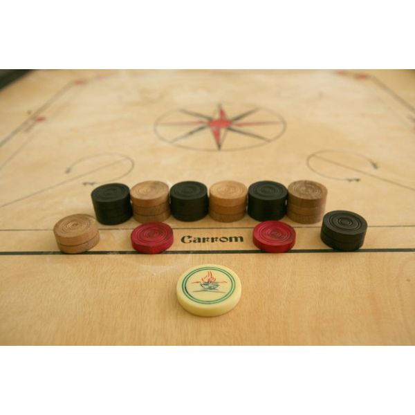 Ubergames Carrom, ECO hardhout, Compact -