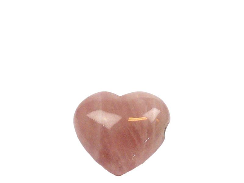 Hart urn mini - Rozenkwarts edelsteen