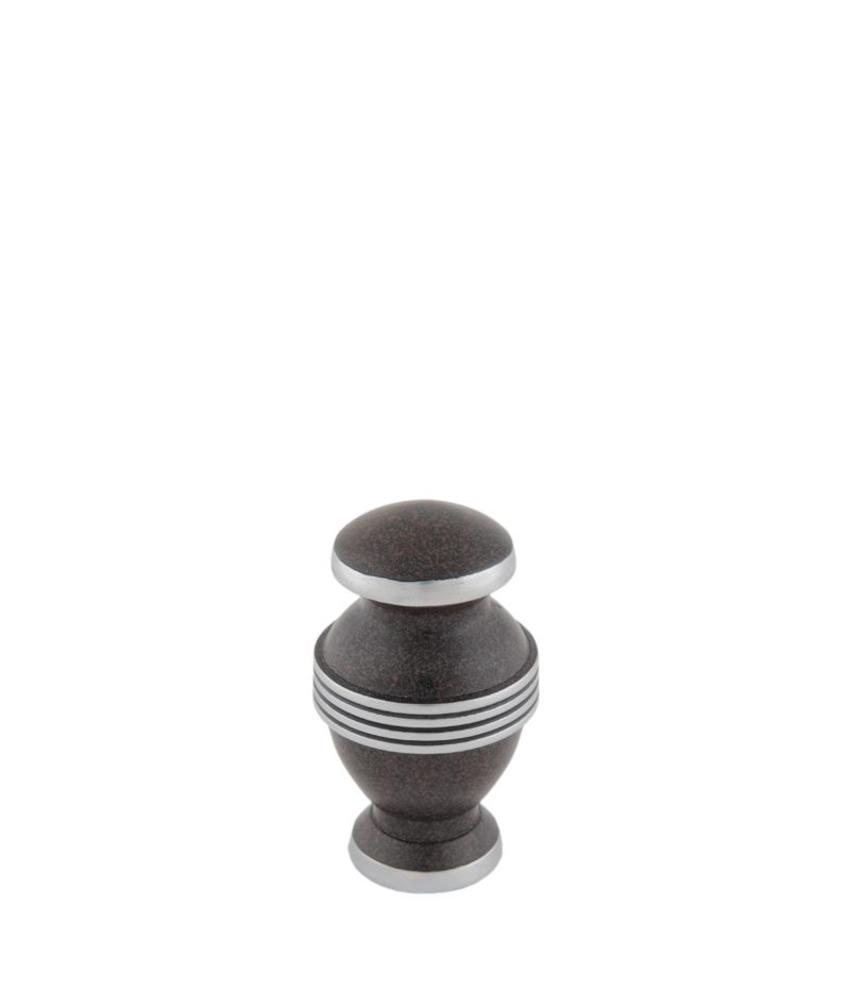 Contemporary bruin mini urn - aluminium