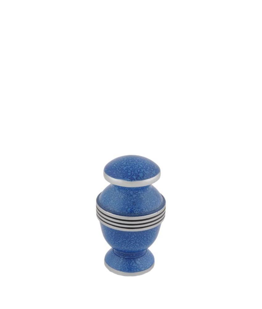 Contemporary Cobalt mini urn - aluminium