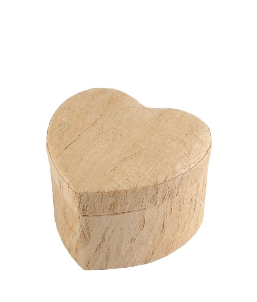 Hart urn earth met houtmotief - BIO