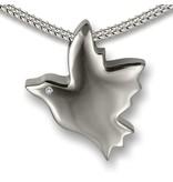 Ashanger vliegende duif - 925 Sterling zilver met zirkonia