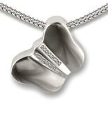 Ashanger vlinder - 925 Sterling zilver met zirkonia