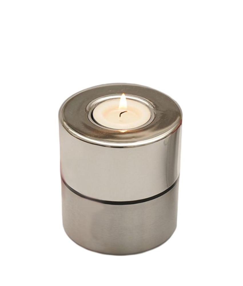 Duo mini urn met waakvlamhouder - aluminium