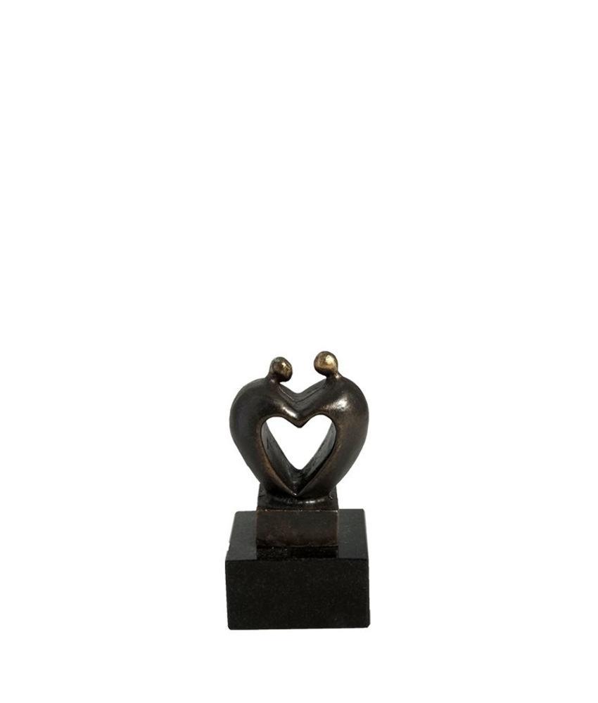 Mini urn hart asbeeldje coeur - brons