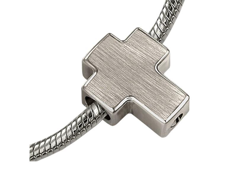 Asbedel kruis - zilver