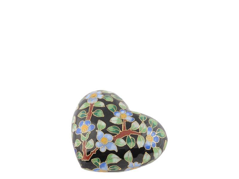 Hart urn mini bloem - cloisonné