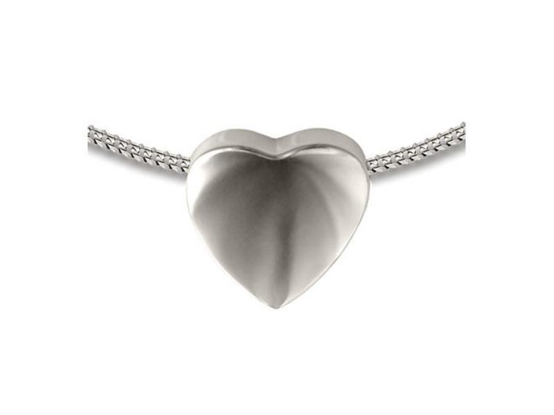 Ashanger 3D hart - 925 Sterling zilver