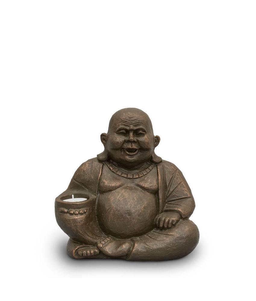 Boeddha urn A met licht - keramiek
