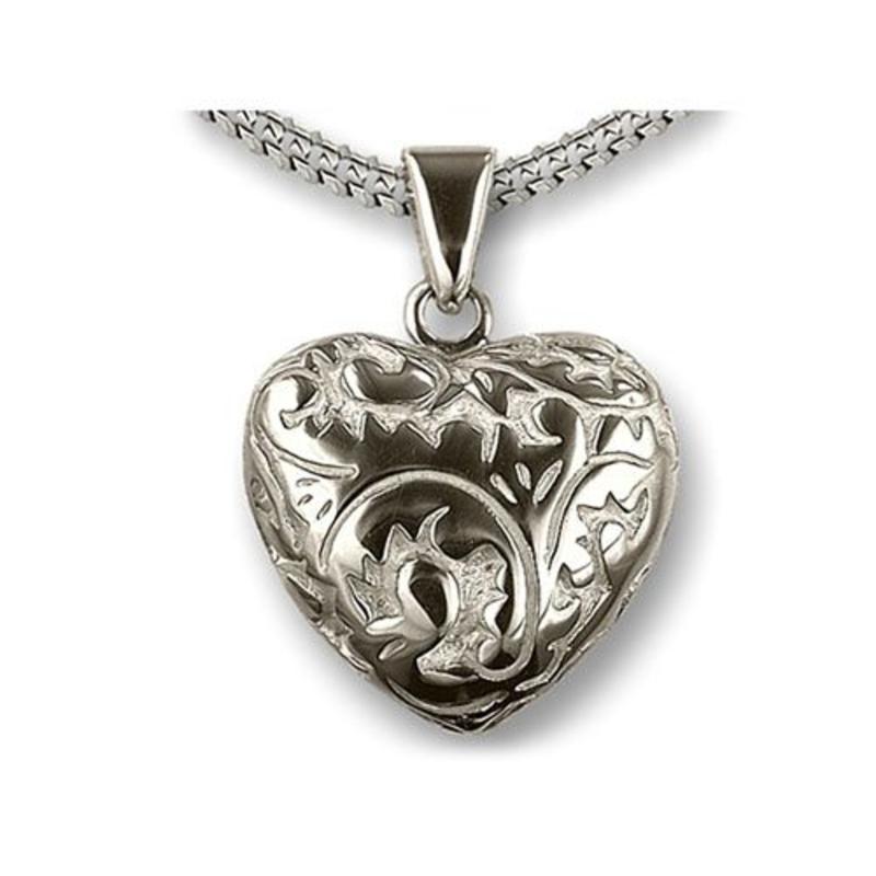 Ashanger hart in barokstijl - 925 Sterling zilver