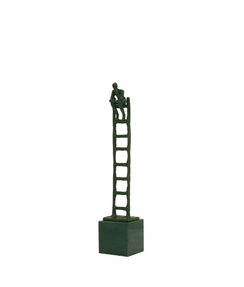 Mini urn asbeeldje penseur - brons