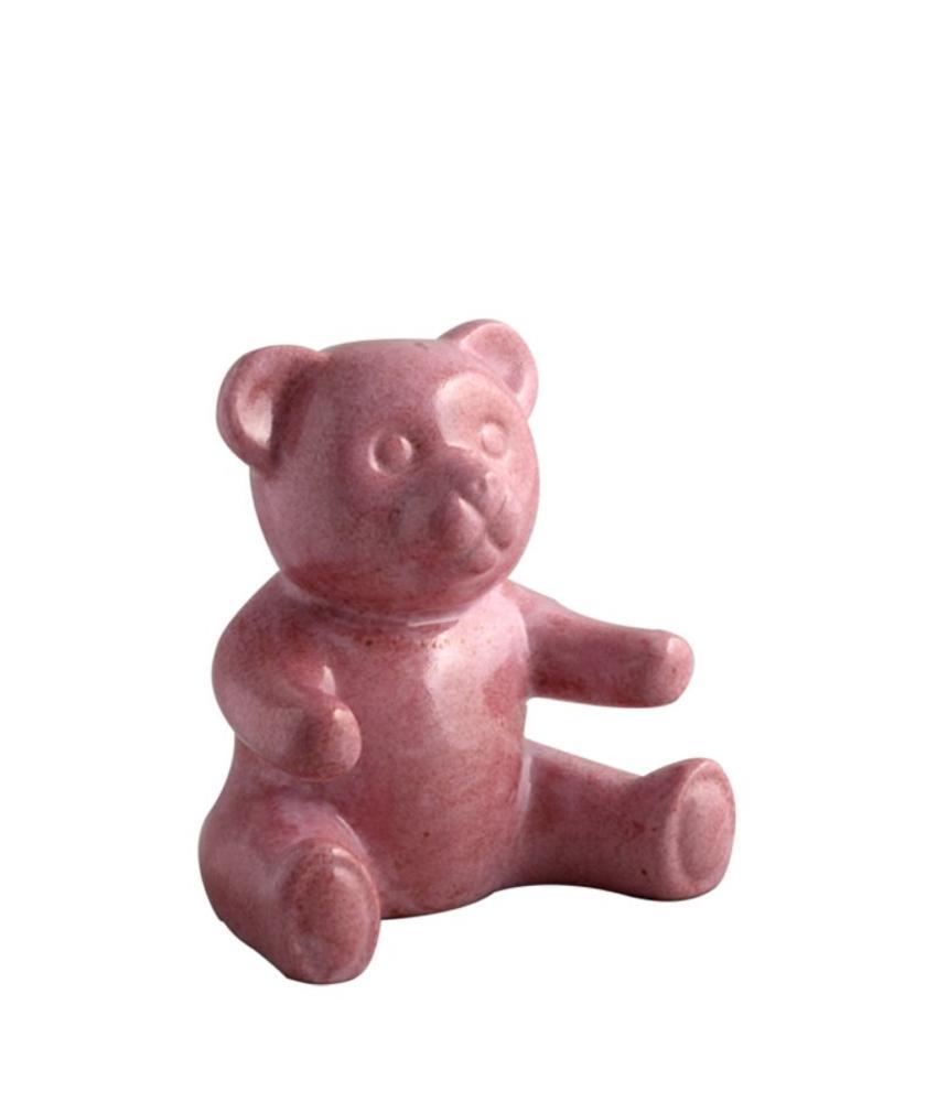 Kinder urn roze beer - porselein