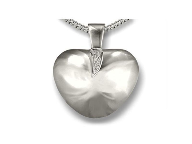 Ashanger draaikolk hart - 925 Sterling zilver met zirkonia