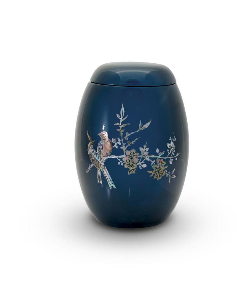 Blauw lente tafereel - glasfiber