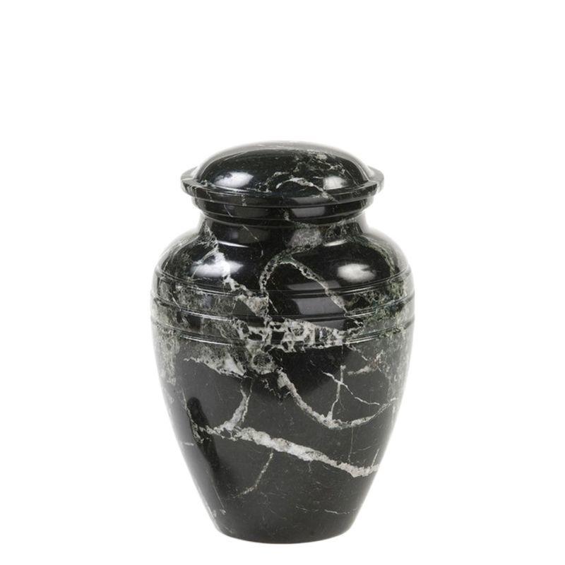 Urn zwart - marmer
