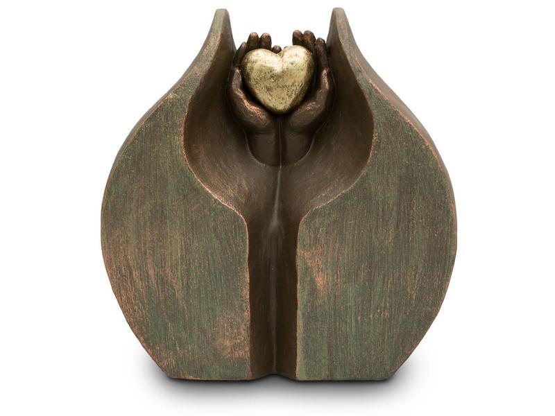 Geborgen Liefde C - Duo urn keramiek
