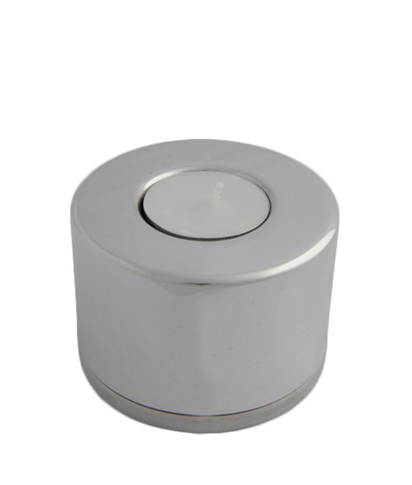 Mini urn modern 2 met waakvlamhouder - aluminium