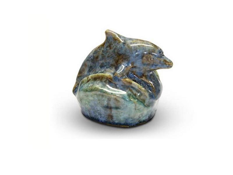 Dolfijn mini urn - keramiek