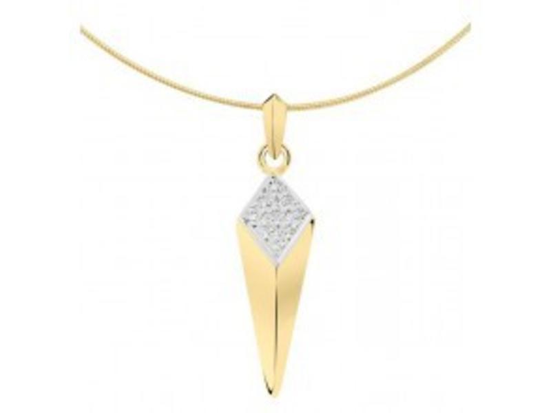 Ashanger fantasie - goud met diamant