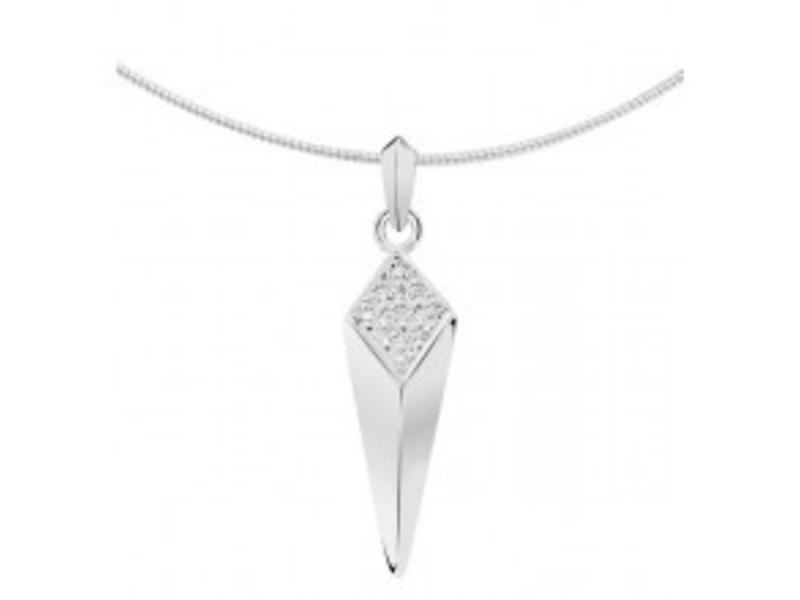 Ashanger fantasie - witgoud met diamant
