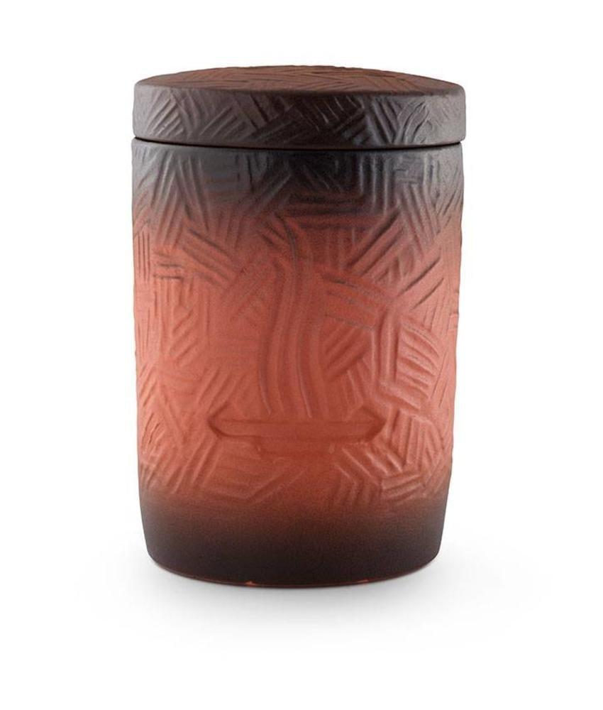 Asbus modern rood zwart met vlammen - keramiek