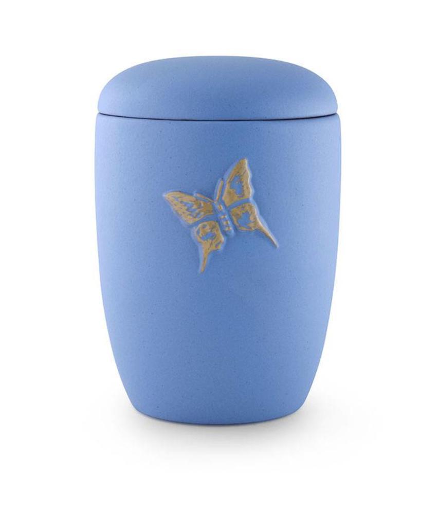 Neo klassiek asbus urn met vlinder - keramiek