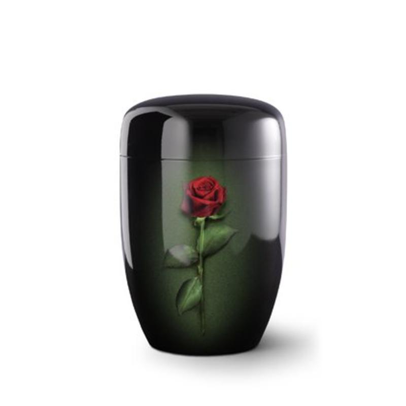 Rode roos zwart - staal