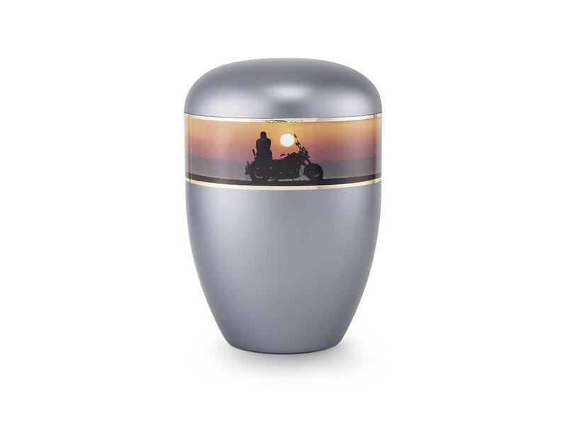 Eco urn grijs moterfiets - bio