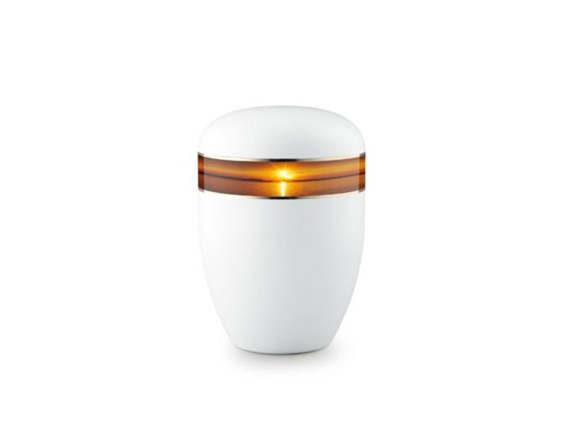 Eco urn wit zonsondergang - bio