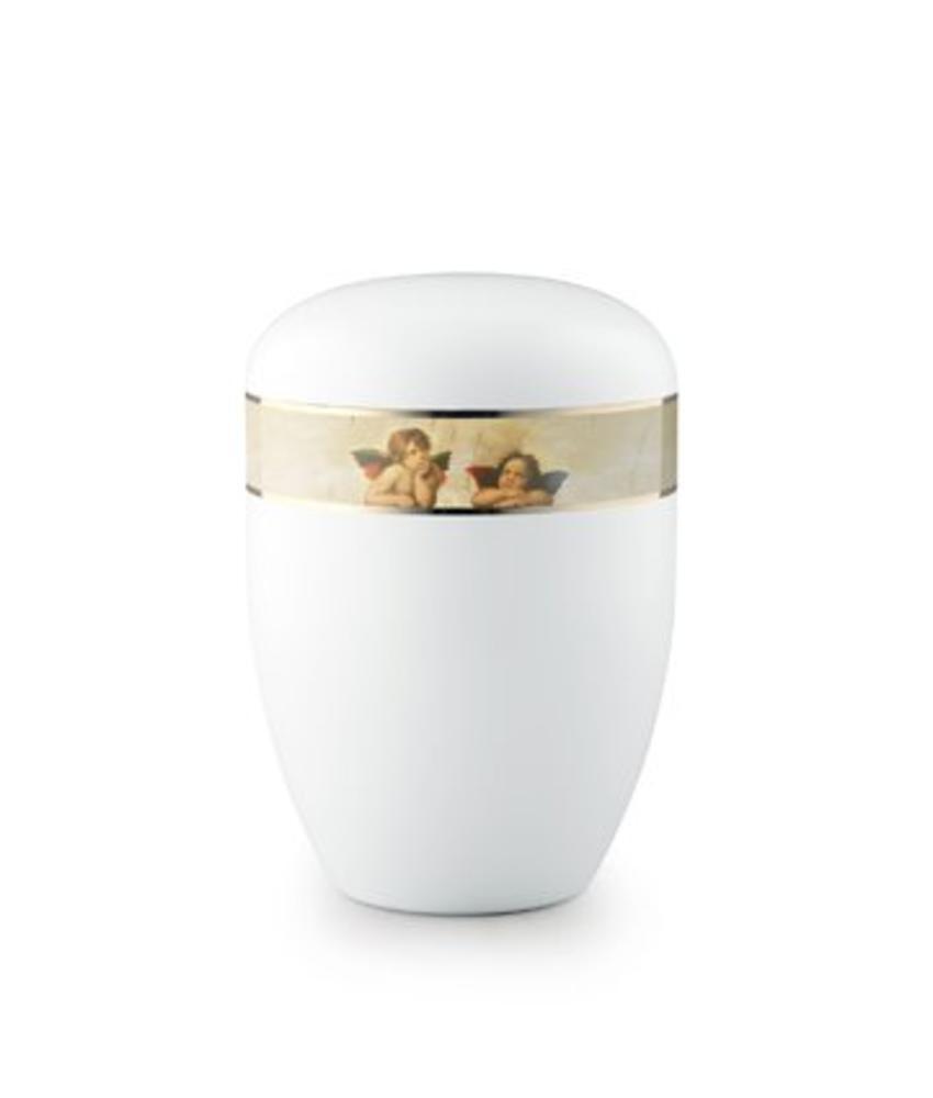 Eco urn wit engelen - bio