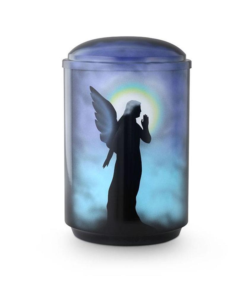 Cherub engel urn - staal