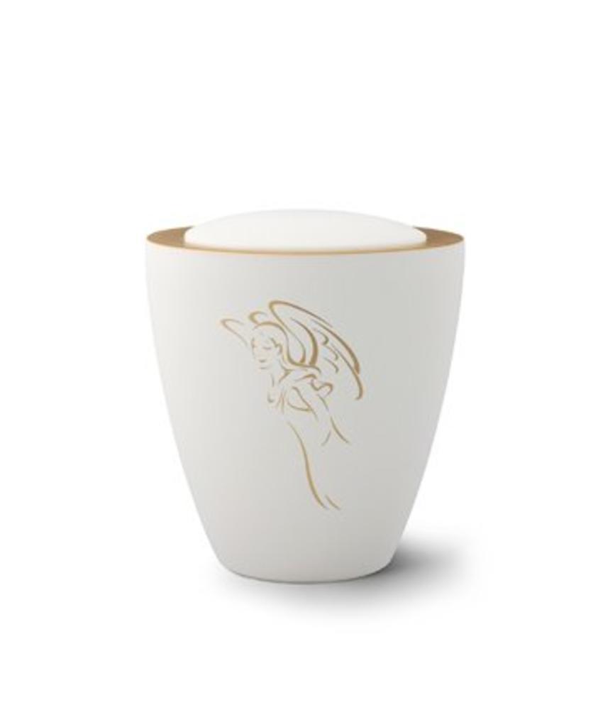 White angel engel urn - keramiek