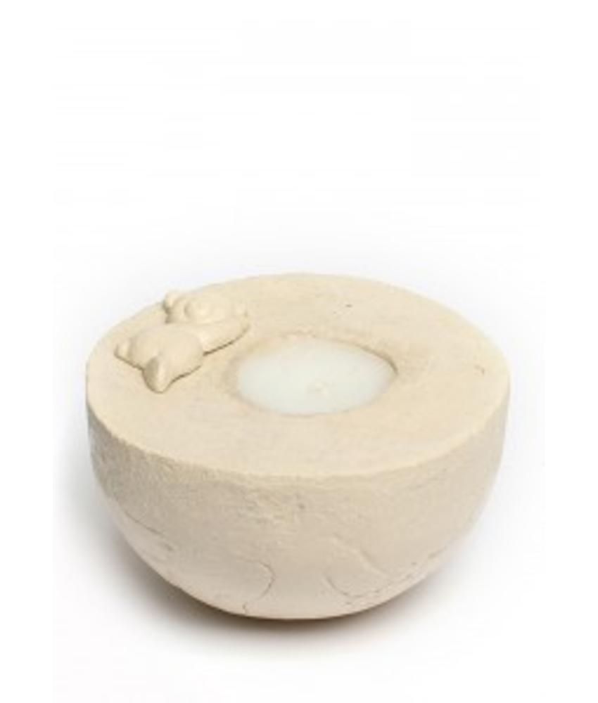 Kinderurn beertje bol met licht 1 - keramiek