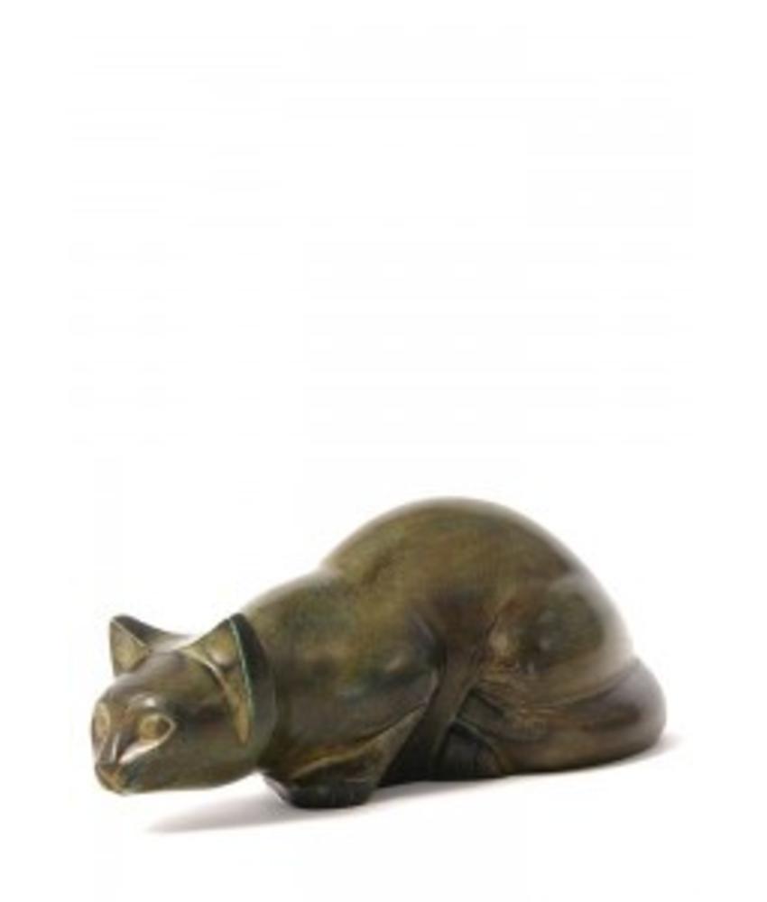 Dieren urn sluipende kat calico - koper