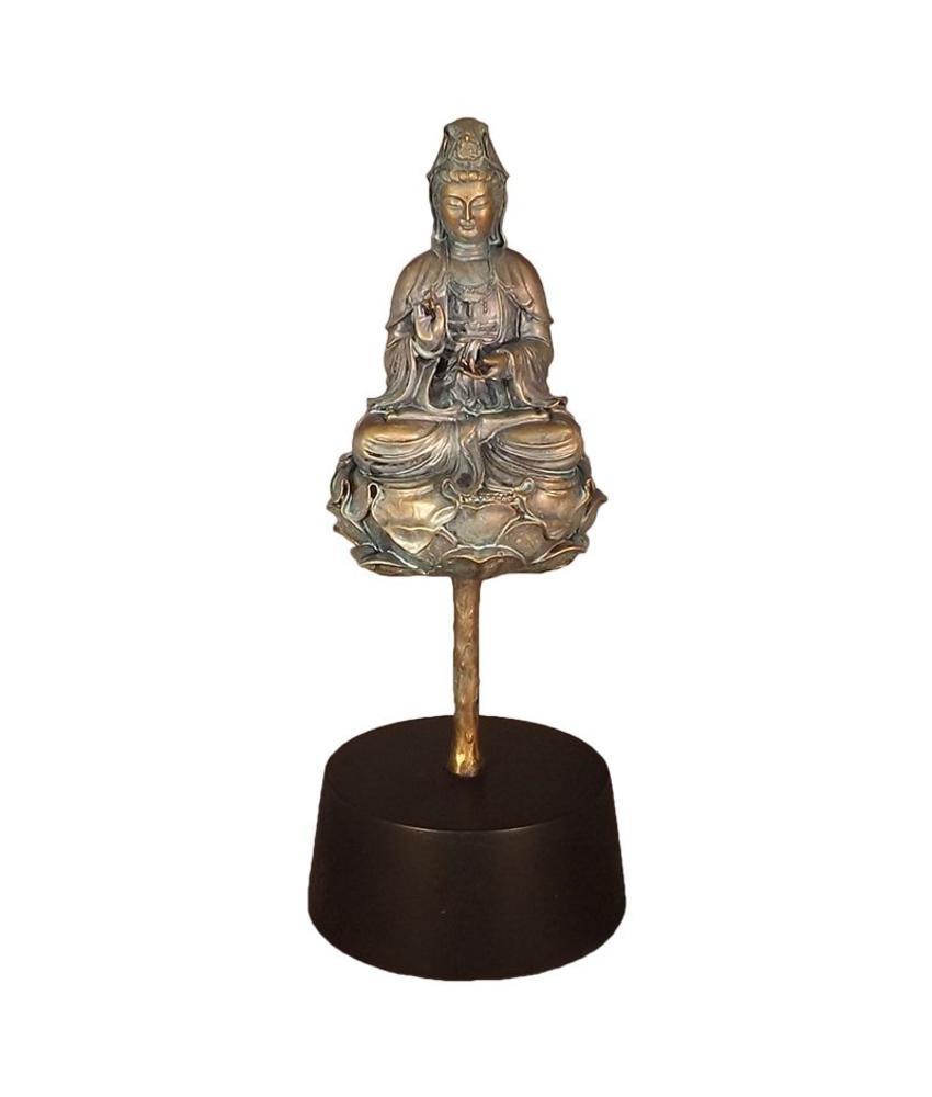 Boedha lotus urn - Polyresin