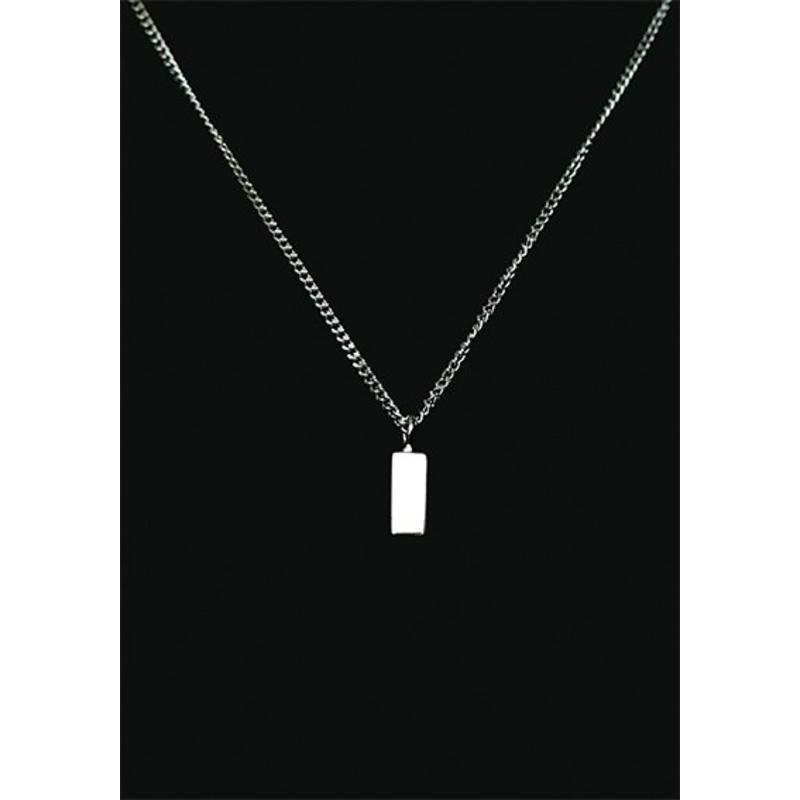 Ascollier staafje incl. ketting 50 cm - zilver