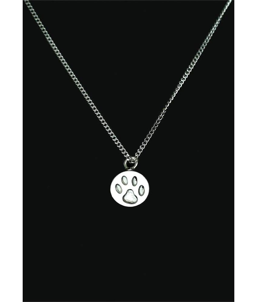 Ascollier poot incl. ketting 50 cm - zilver