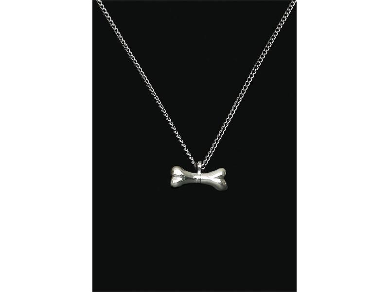 Ascollier kluif incl. ketting 50 cm - zilver