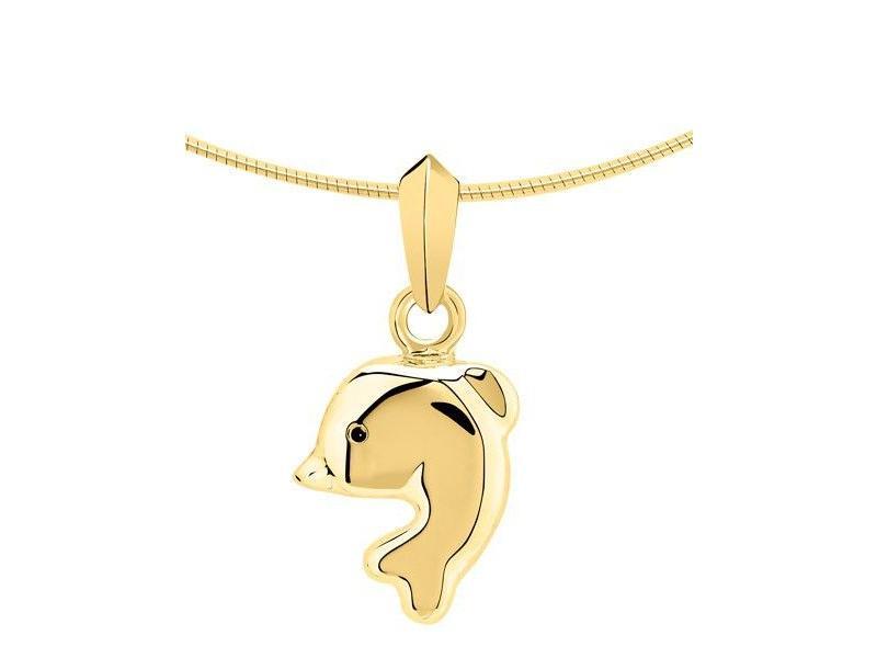 Ashanger dolfijn - goud