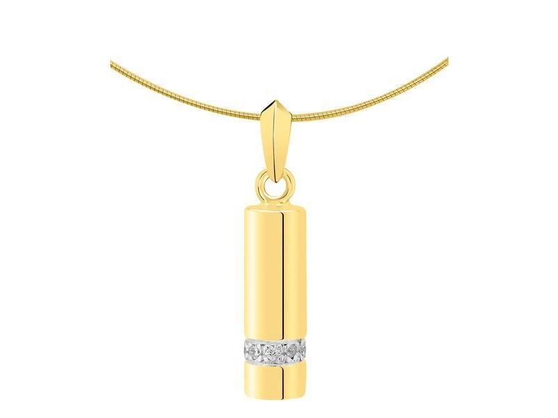 Ashanger asbus - goud met diamant