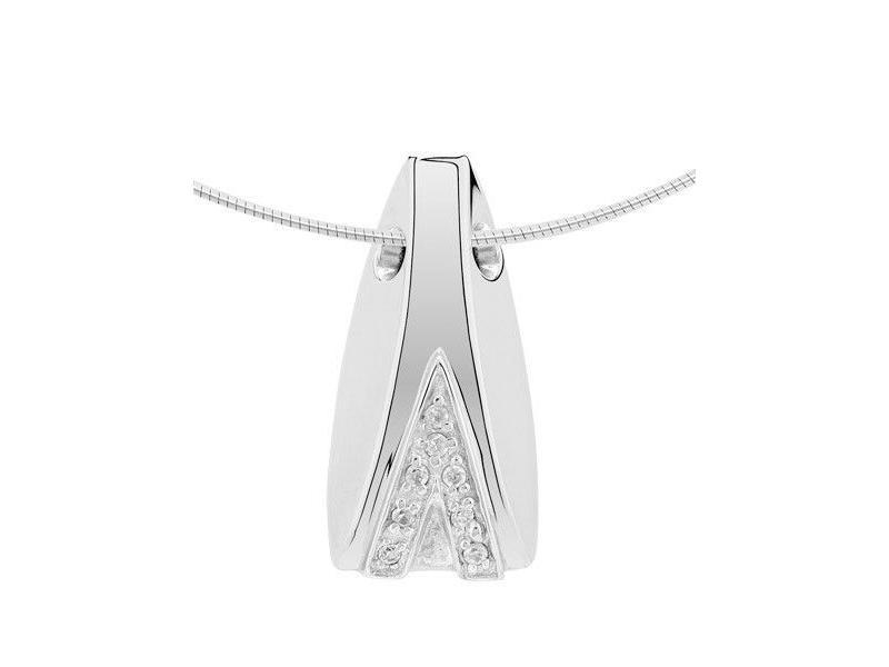 Ashanger fantasie modern - zilver met zirkonia