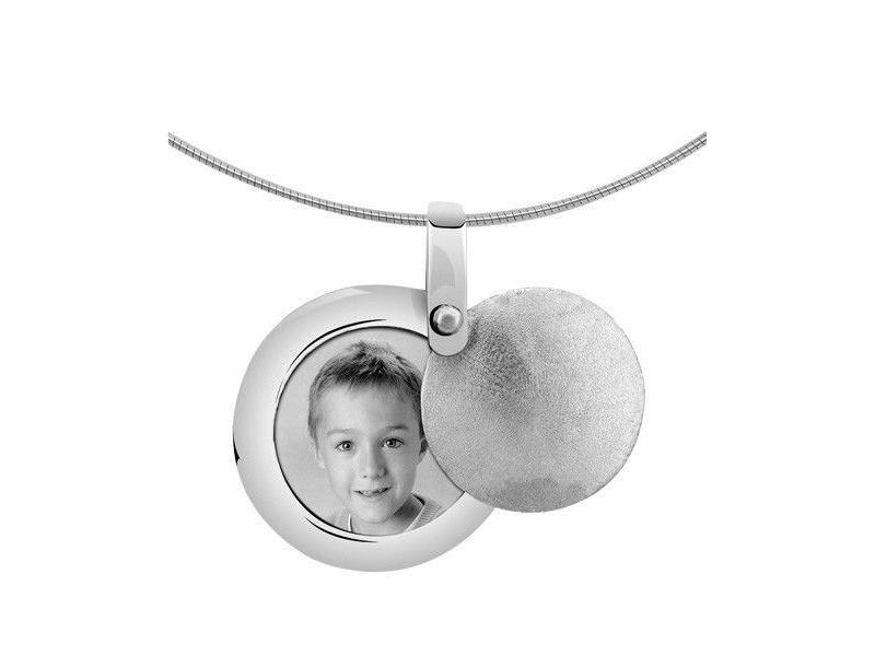 Asmedaillon rond - zilver