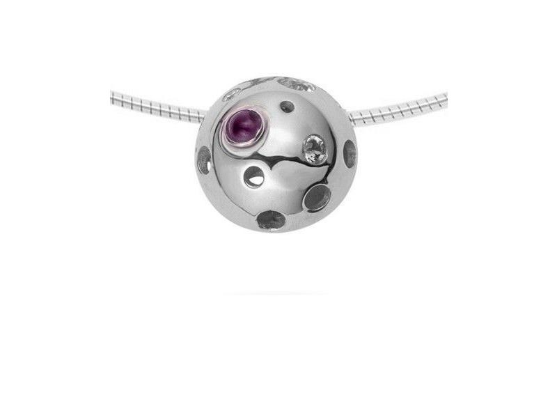 Ashanger modern - 925 zilver en kristalharssteen