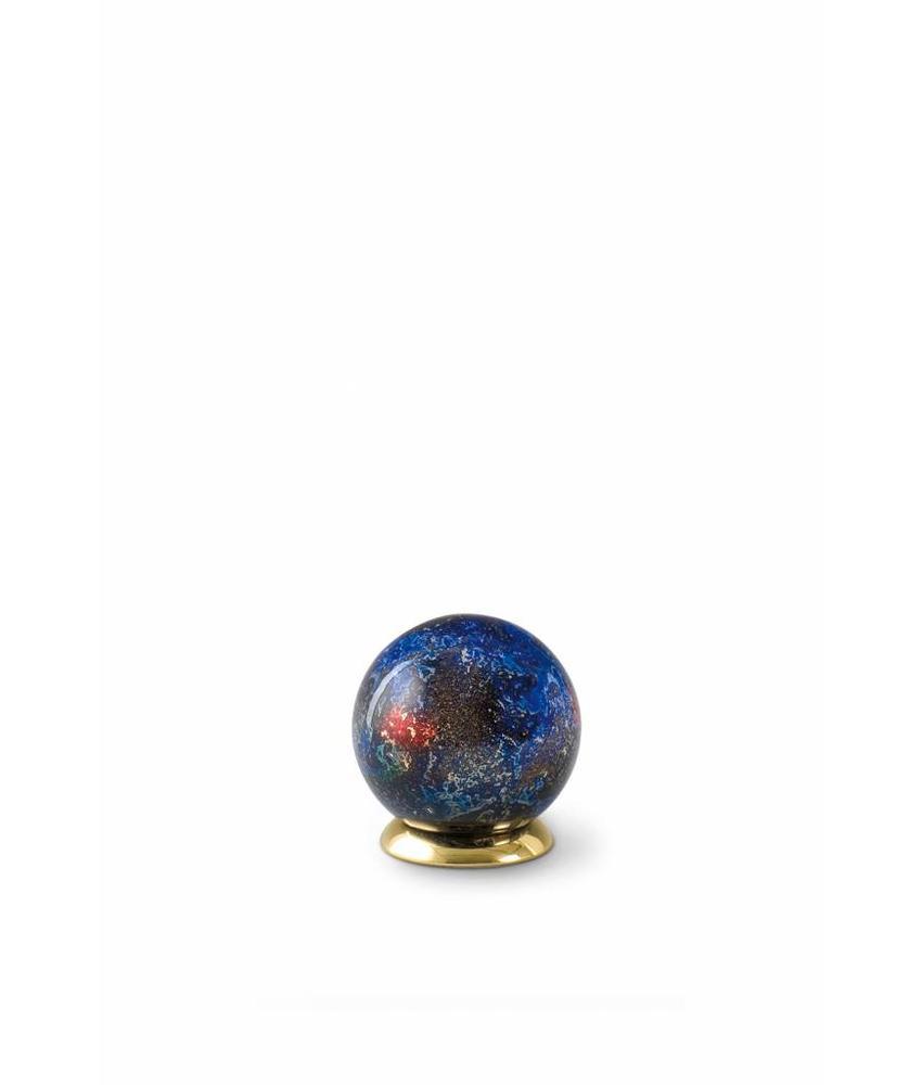 Kinder urn blauwe bol - glas