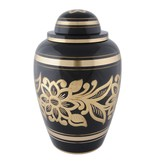 Ebony bouquet urn groot - messing